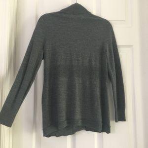 Merino Wool Extra fine Long sleeve Cardigan Grey
